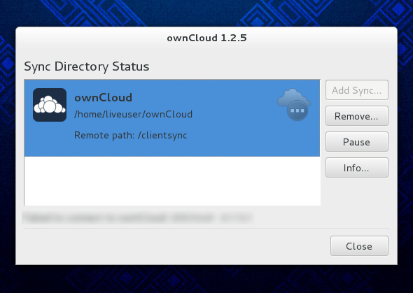 Interface Owncloud